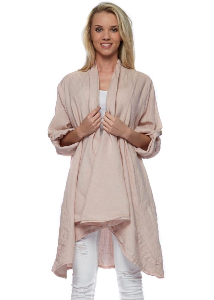 Baby Pink Linen Jacket Designer Linen Clothing