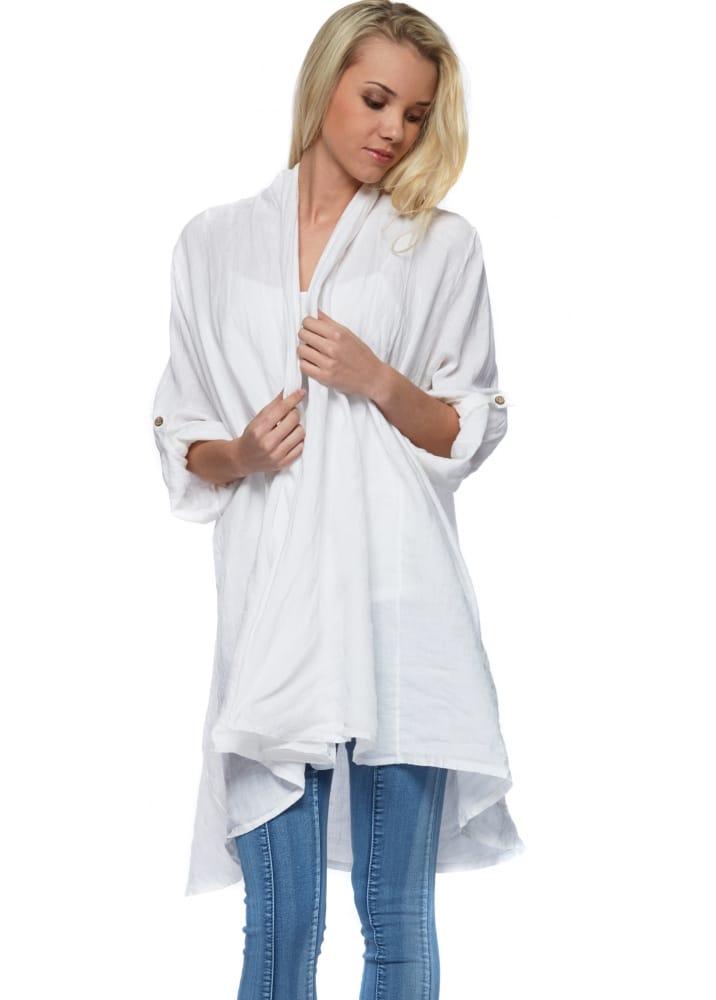 White Linen Jacket Designer Linen Clothing
