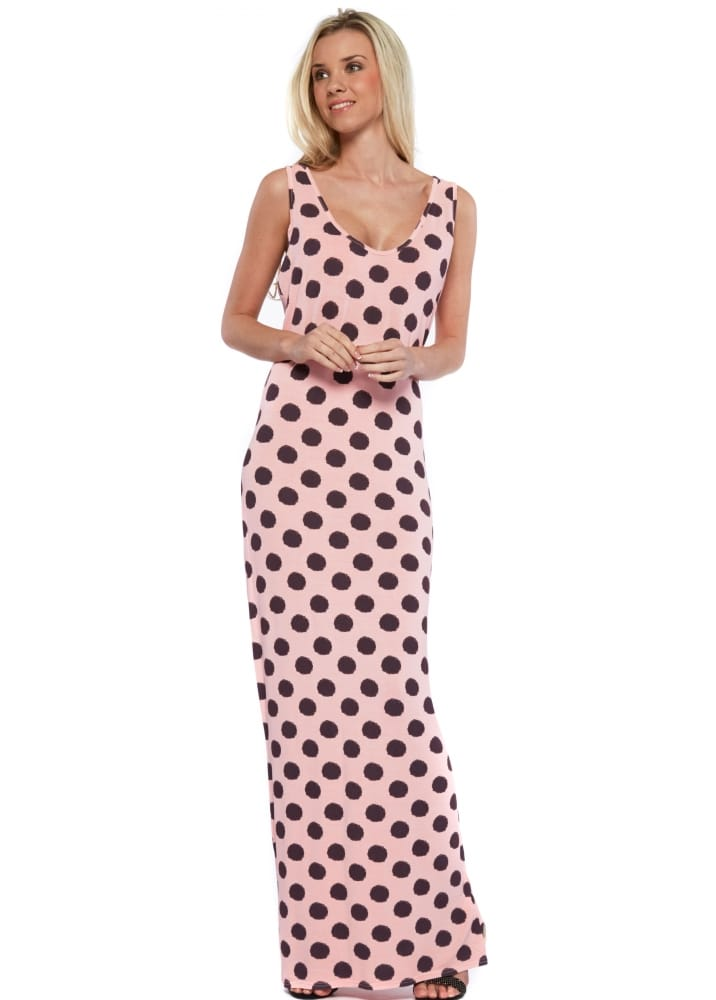 A Postcard From Brighton Maxi Dress Racer Back Pink