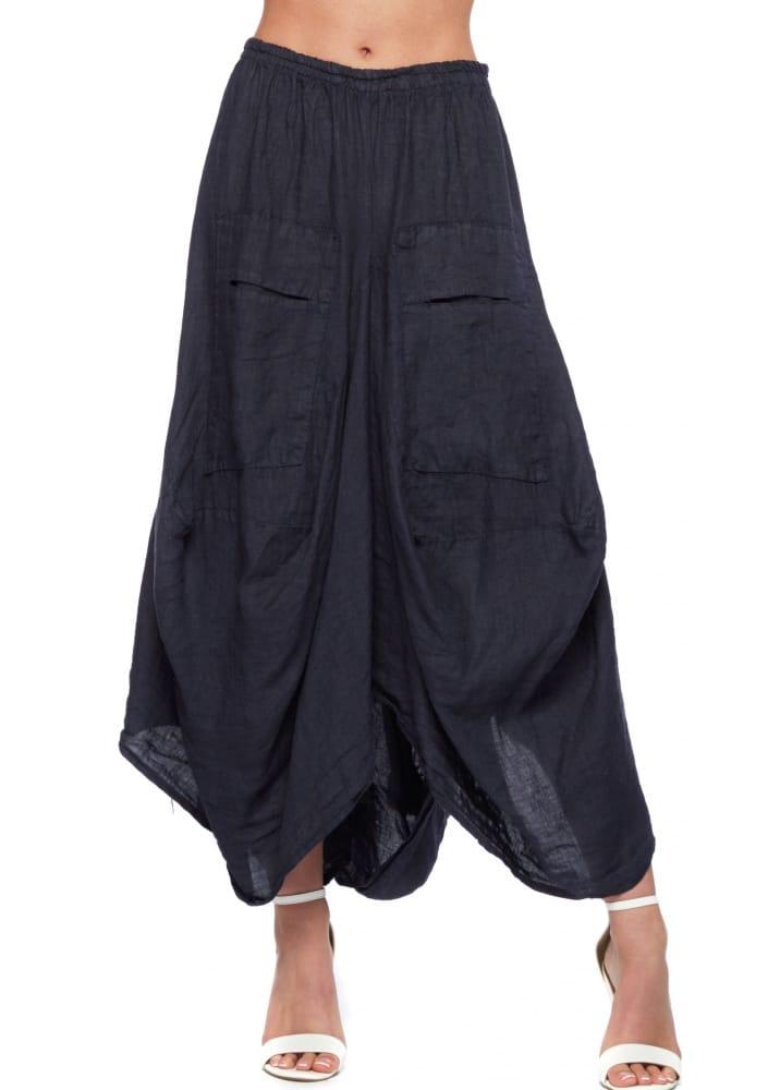 blue linen layered maxi skirt linen skirt designer linen