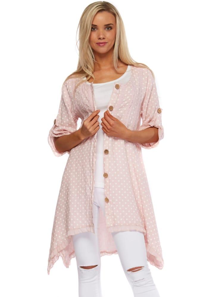 Pink Amp White Spotted Sugar Babe Shirt