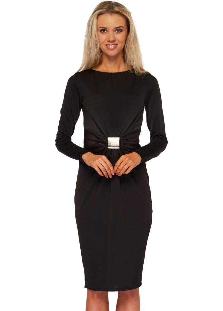 goddess london black pencil dress