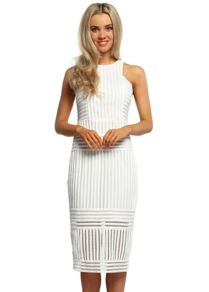 White Midi Dress White Pencil Dress Women S White Dresses