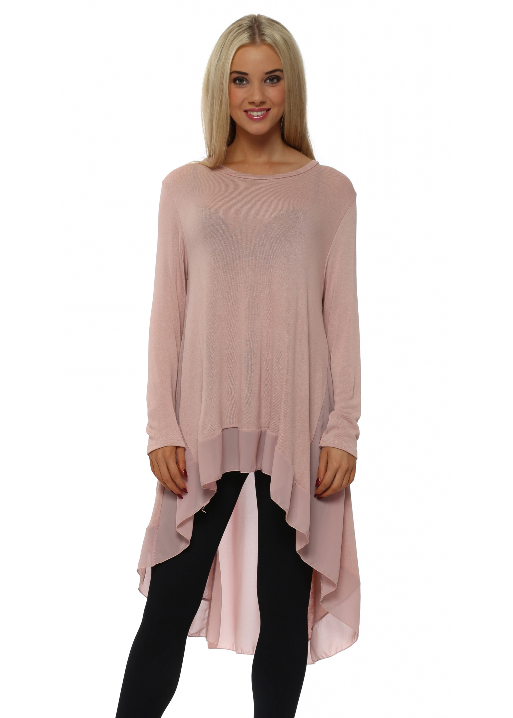 Made In Italy - Pink Floaty Tunic Top