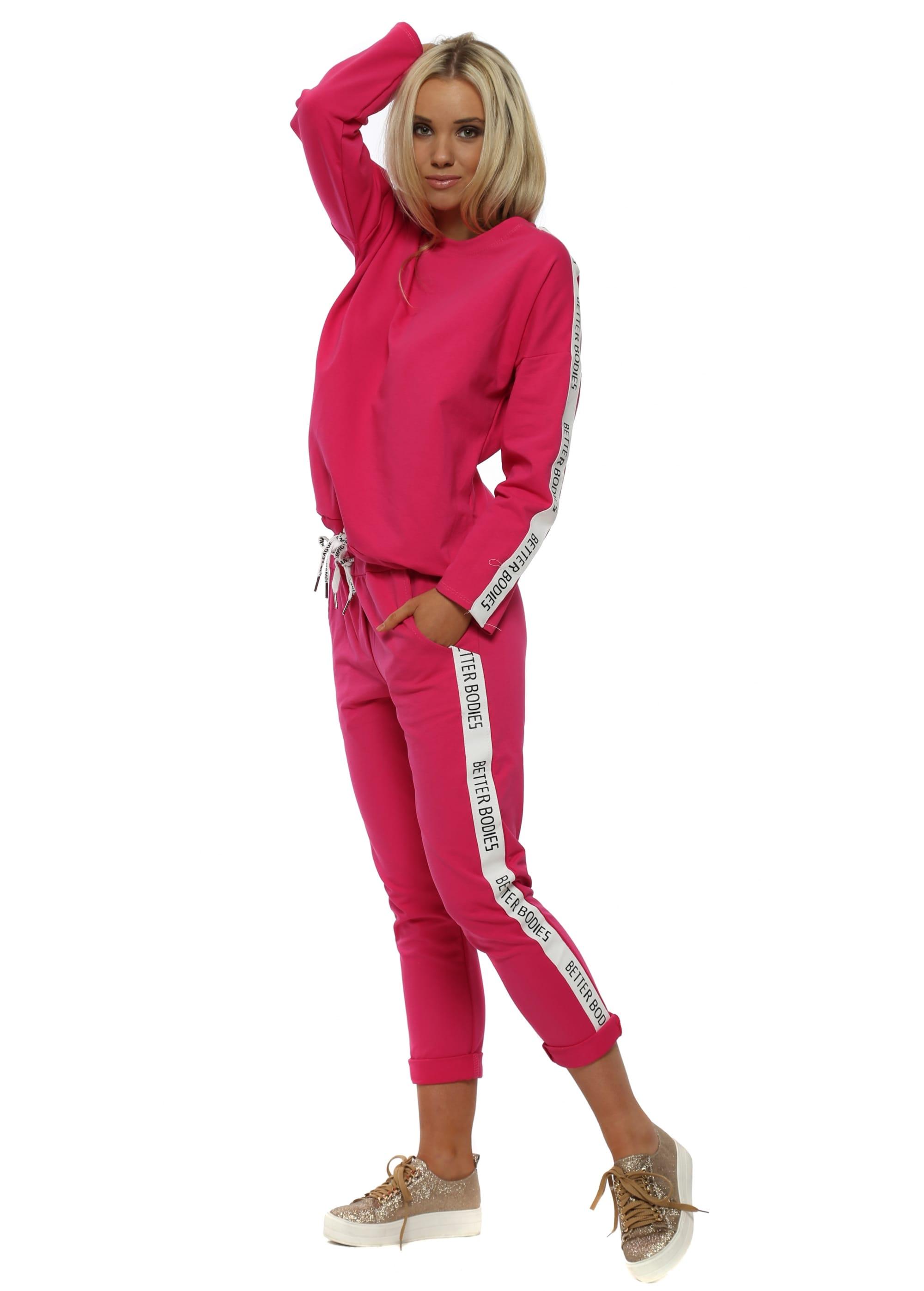 hyvä istuvuus esikatselu laaja valikoima Bright Pink Cotton Better Bodies Tracksuit
