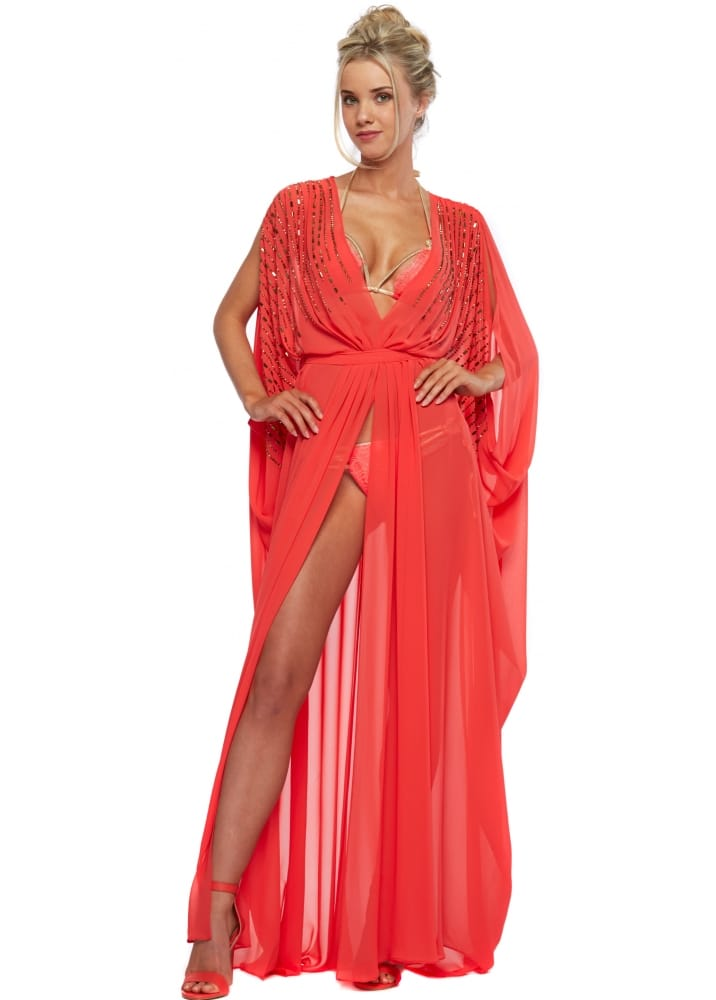 new lower prices exquisite style official shop Genese Coral Kaftan - Gemma Collins Coral TOWIE Kaftan