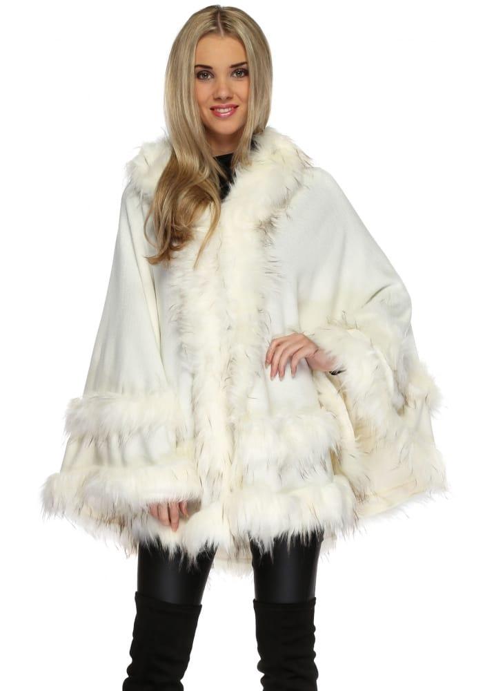 URBAN MIST Grey Gold Fluffy Faux Fur Gilet Luxury Women/'s Warm Winter Outwear