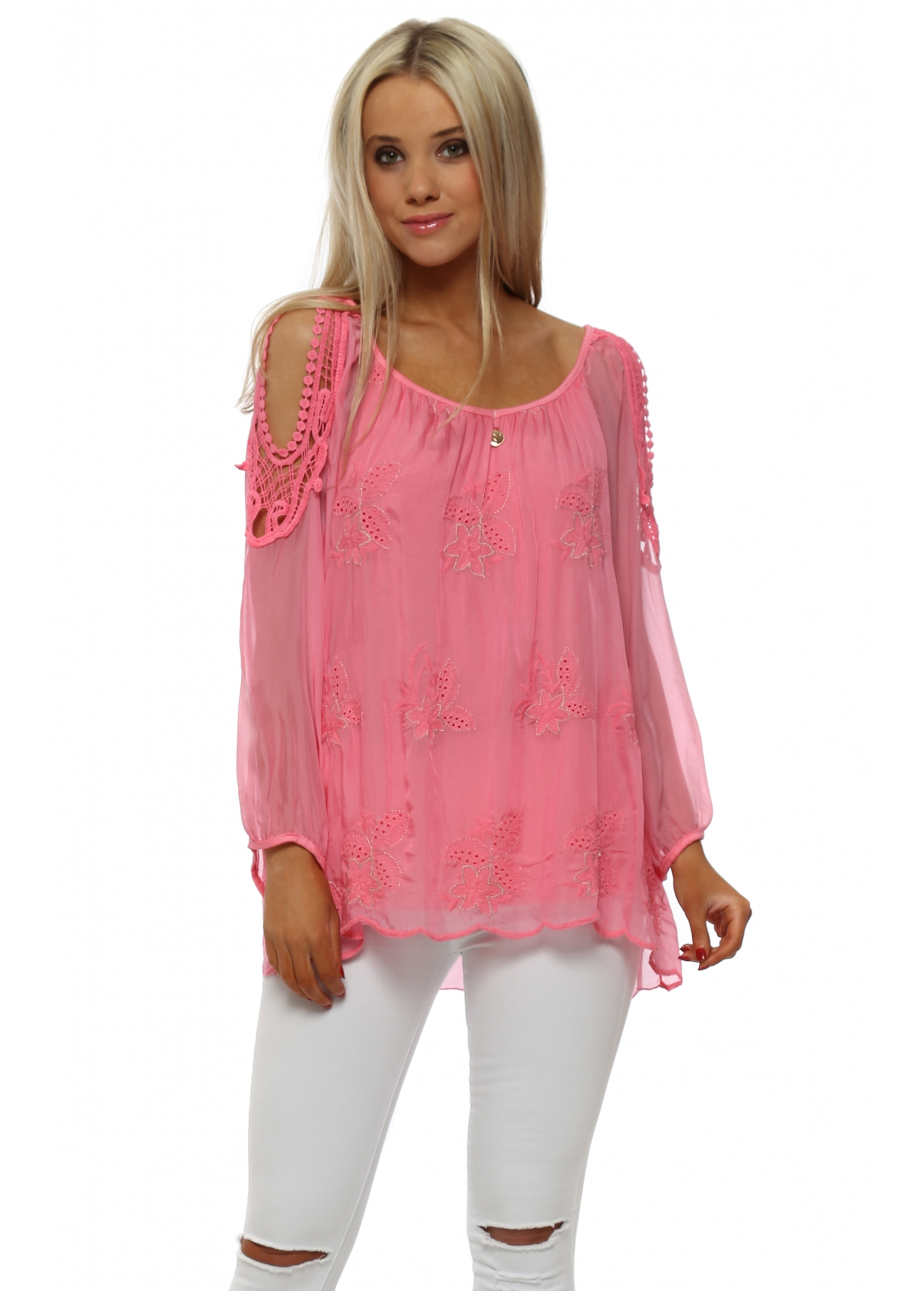 Diamante Fashion Womens Top (Sizing: S-L) · Style D187