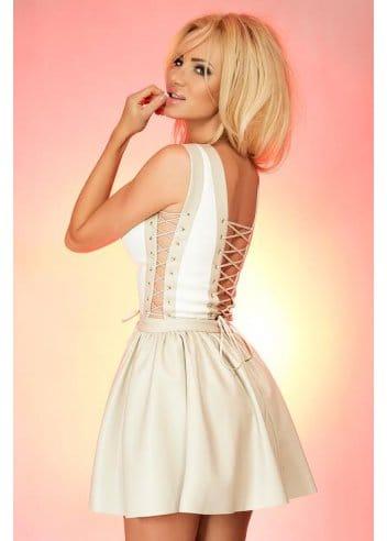 just unique calypso dress  designer corset laced dress