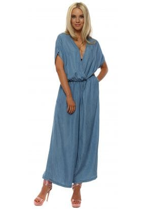 aed239904ee Blue Cross Front Wide Leg Jumpsuit