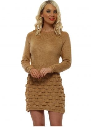 cf7a558b8c Made In Italy Beige Oversized Cowl Neck Jumper Dress