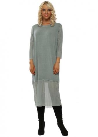 289181f0bb3 Tilly Winter Sea Chiffon Pleated Dress