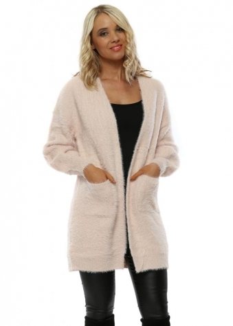 584a4f6a1e6 Baby Pink Fluffy Cardigan