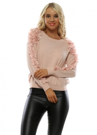 945dd28e765 Pink Floral Diamante Jumper