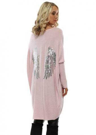 Pink Sequin Angel Wings Jumper fdca7b5df