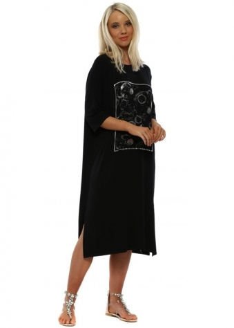 5302f2d790bfe Black Bubbles Casual Jersey Dress · A Postcard From Brighton ...