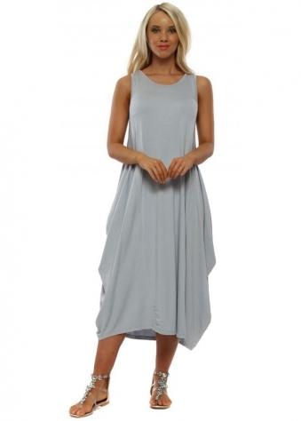 86e2ffdb2c2 Grey Jersey Parachute Dress. Made In Italy ...