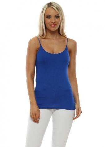 34bc55dfa48a5e Cobalt Blue Jersey Cami Top