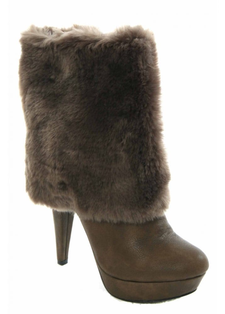 Desirable Desirable Boots Faux Fur Ankle Boots