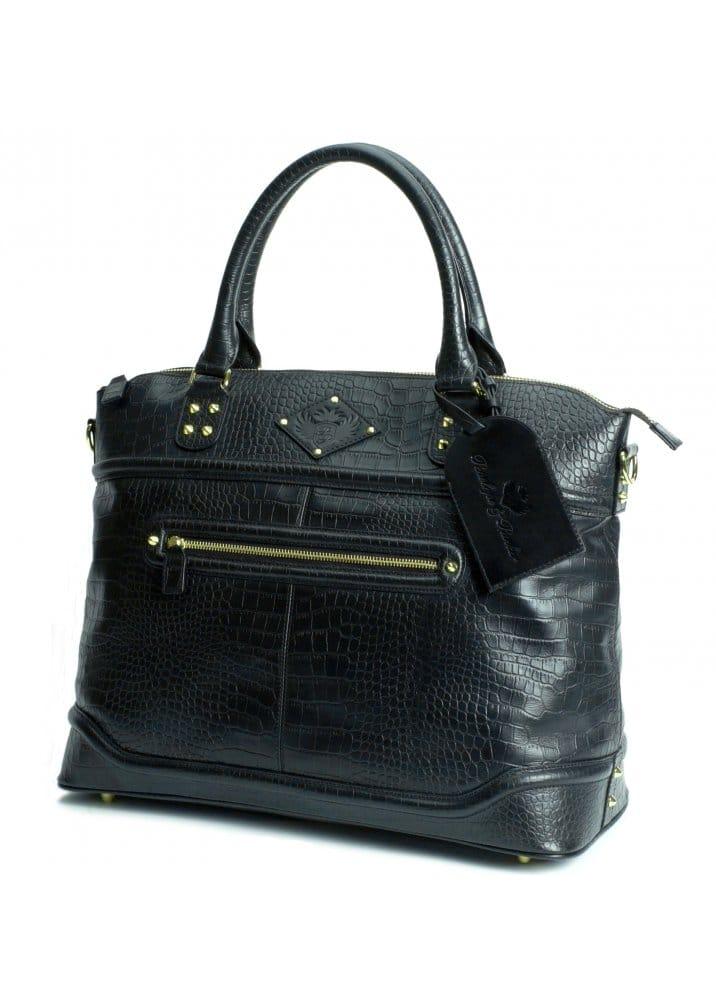 037d0dd23a6 Roxy Black Croc Laptop Bag - Handbag