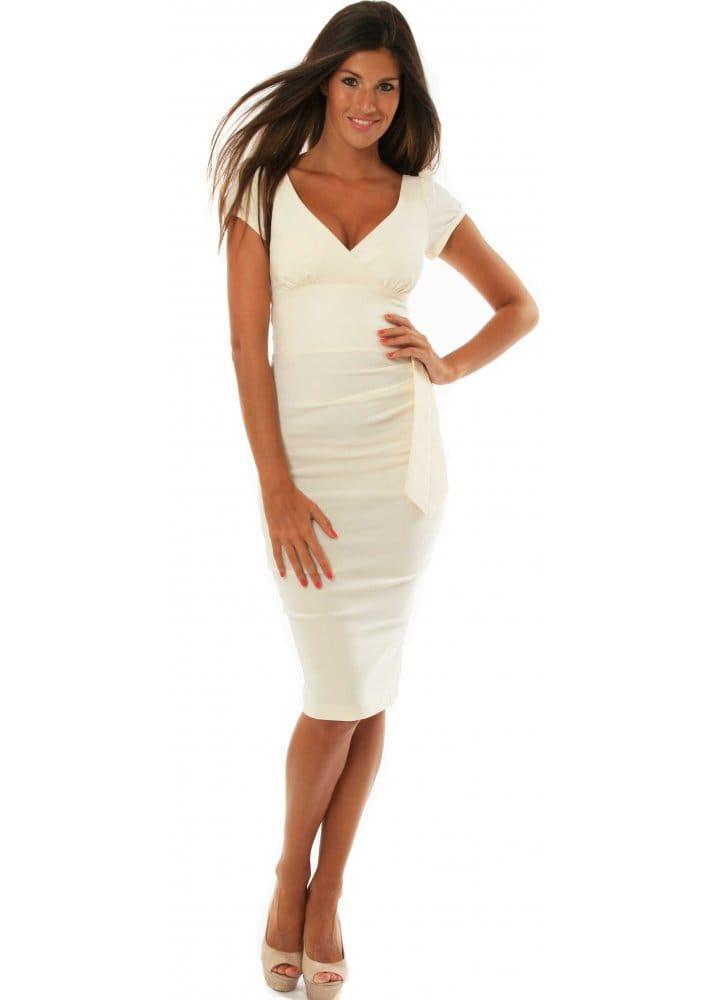 Hybrid Cream Wiggle Dress Buy Hybrid Dresses Hybrid