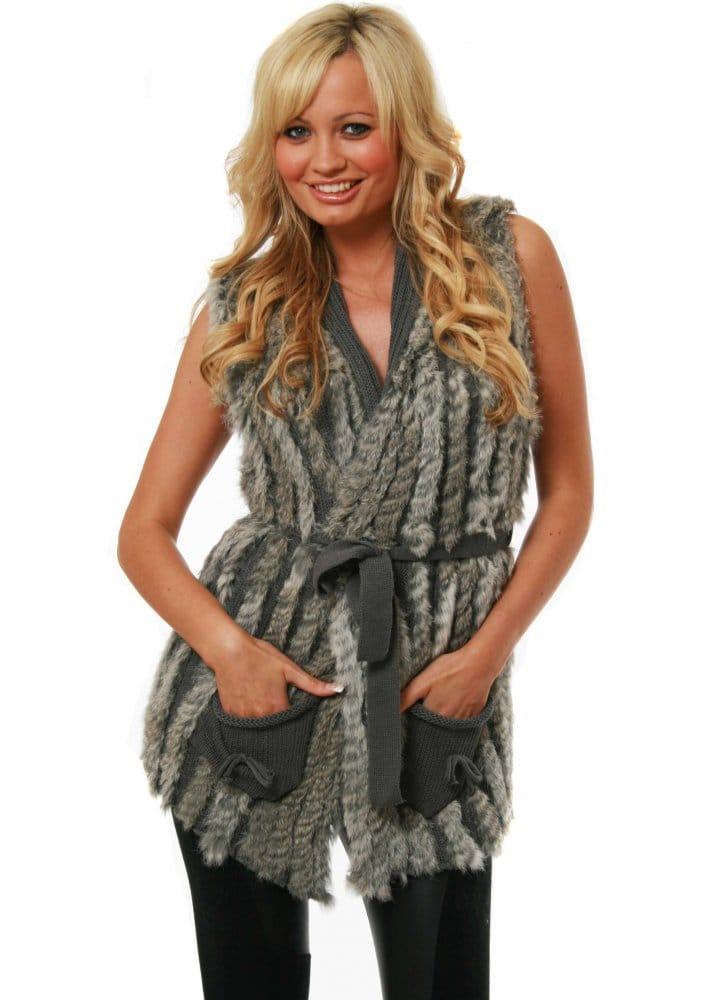 Designer Knitted Fur Gilet Designer Fur Gilet Waistcoat