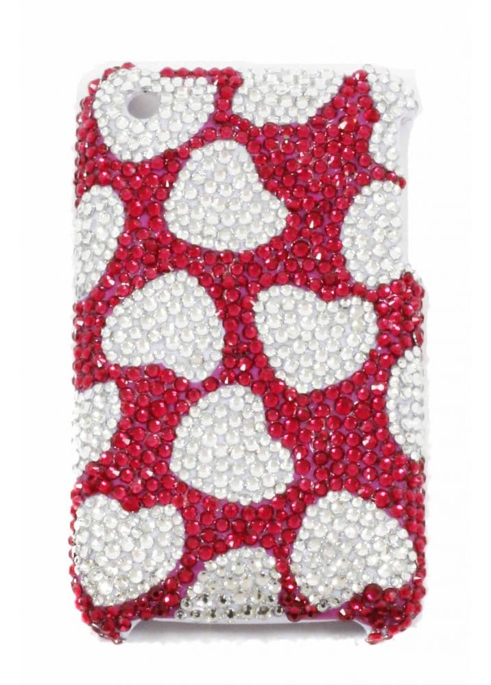 63a1893c062f iPhone 3 Crystal Hearts Mobile Phone Cover