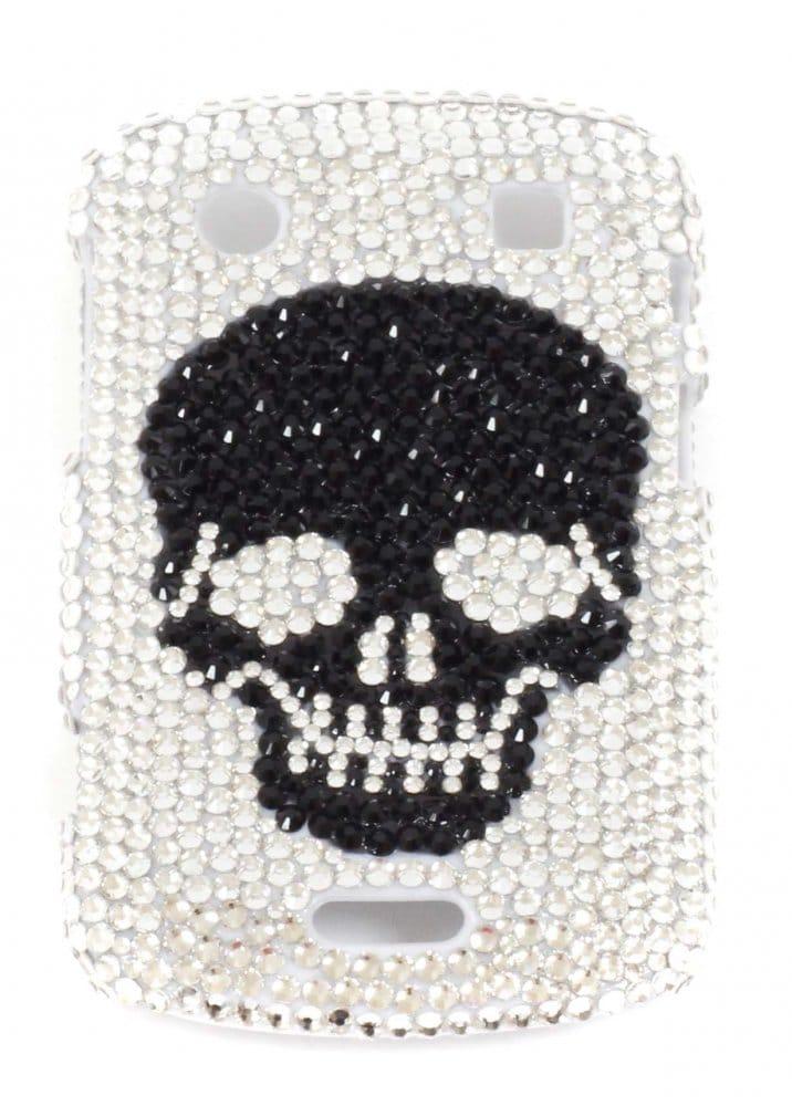 new concept ffa96 89dc0 Designer Desirables Blackberry Bold 9900 Crystal Black Skull Crystal Phone  Cover