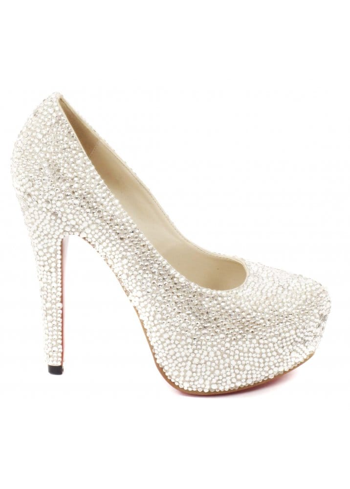 2812375bd Shoes Silver Crystal Couture Glitzy High Heel Pumps