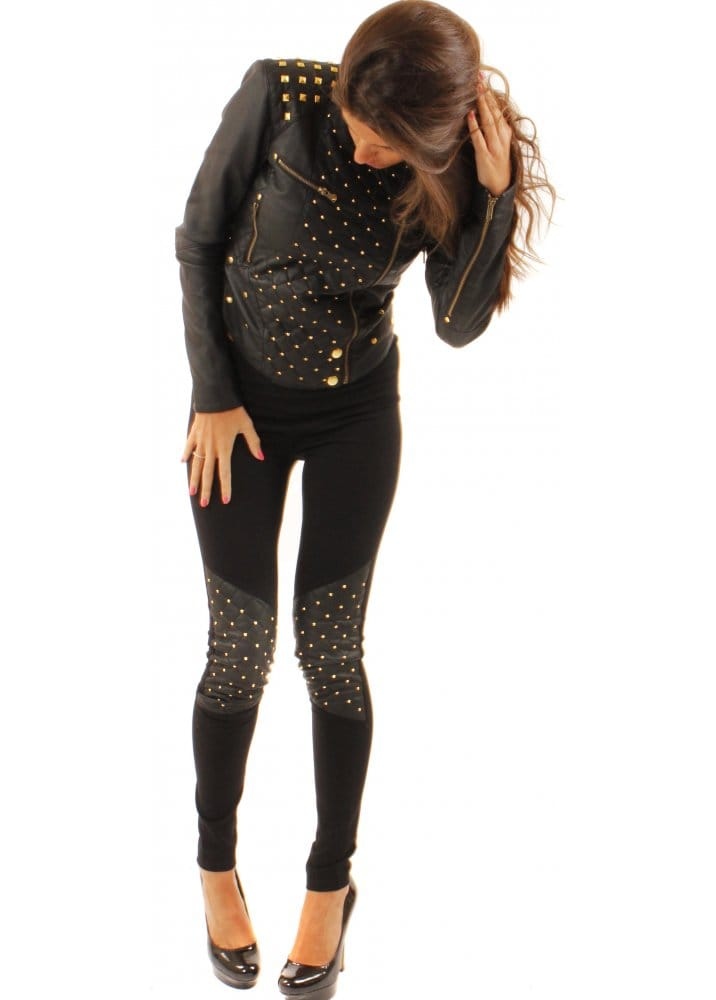 Selfish By Forever Unique Forever Unique Morse Studded Leggings