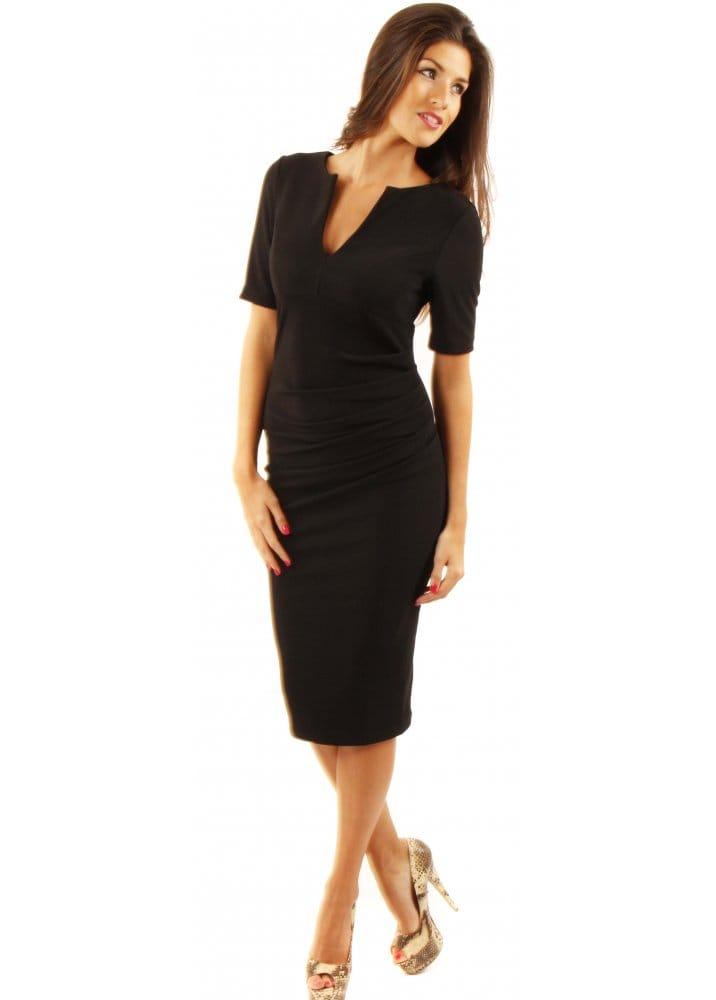 Charming Dress Black Pencil Dress Designer Black