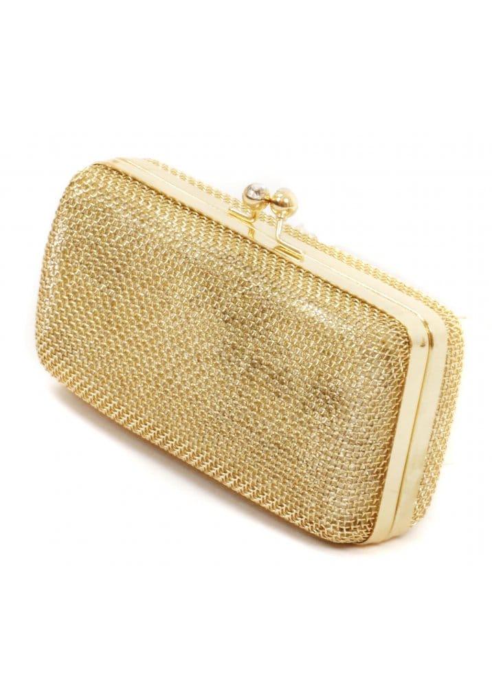 bd768b73d7d71 Gold Mesh Clutch Bag | Gold Evening Bag | Gold Handbags