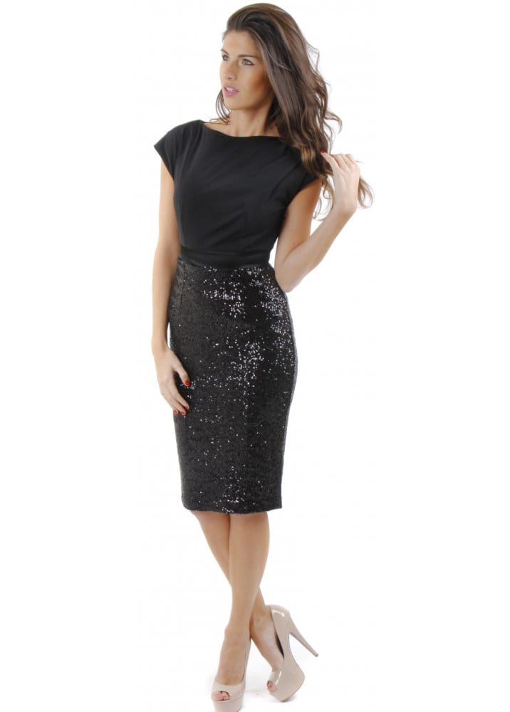 The Pretty Dress Company Luxe Sequinned Melrose Dress