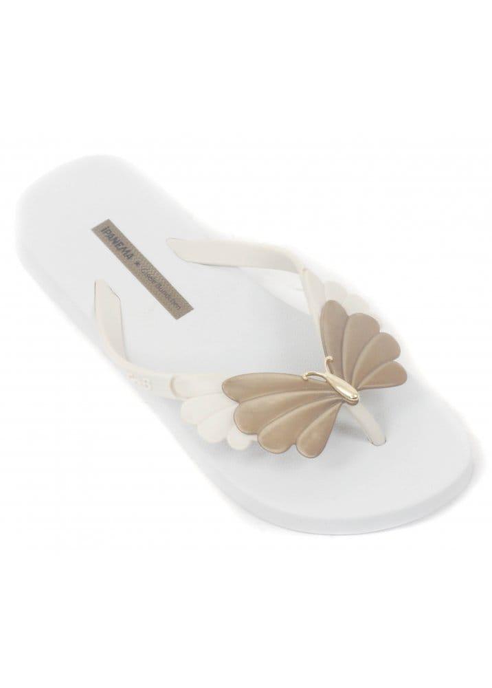 8052d5f187f Gisele Bundchen Sunrise Ladies White Flip Flops