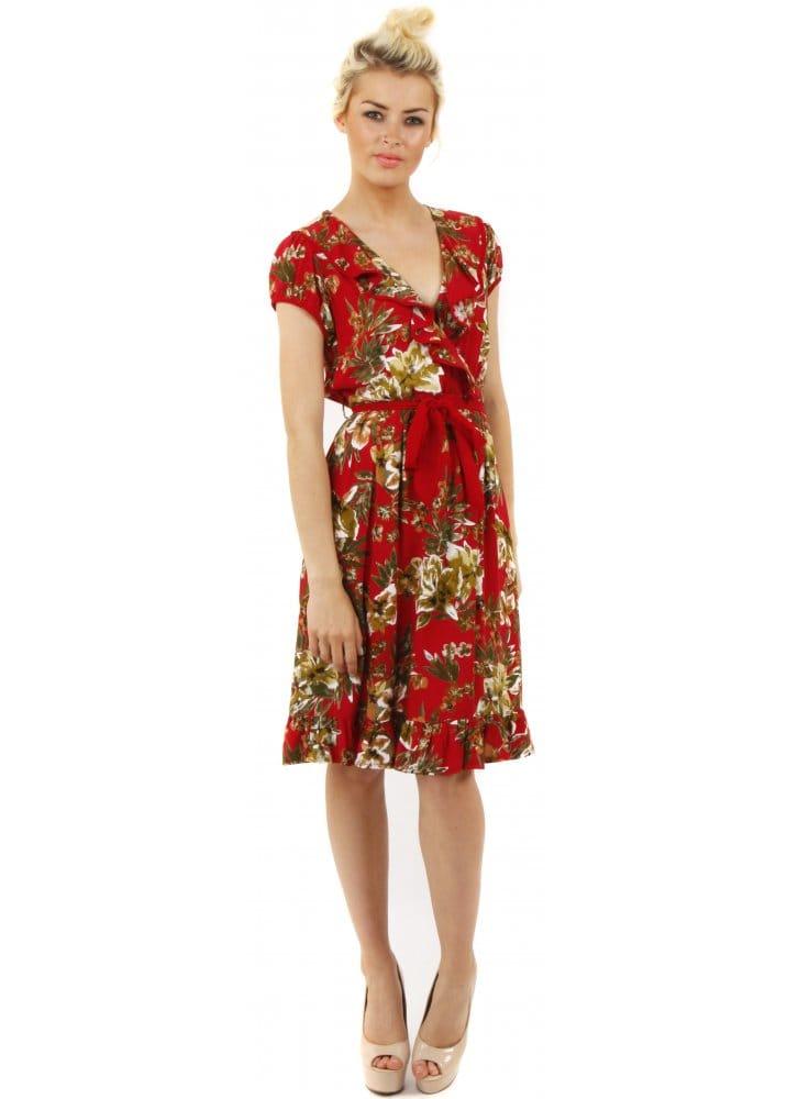 Stella Morgan Floral Wrap Dress Stella Morgan Dresses