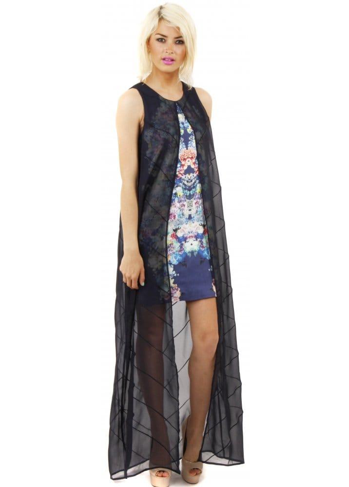 faa1a64281e Blue Chiffon Mini Maxi Final Goodbye Dress