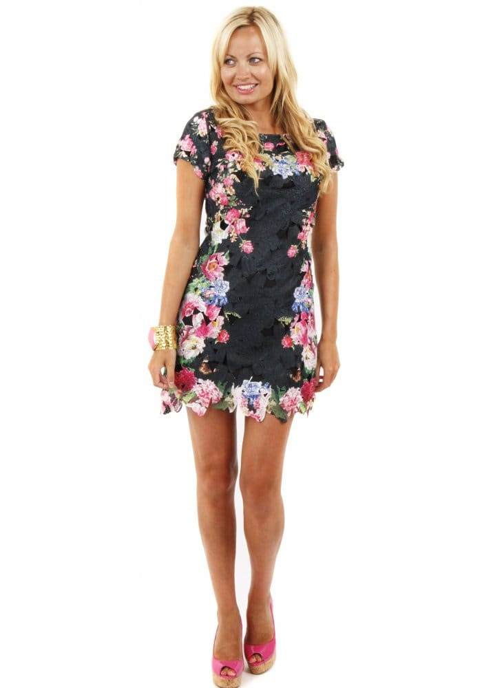 4c6b03c08abf Black Lace Shift Dress | Lace Mini Shift Dress | Shop Party Dresses