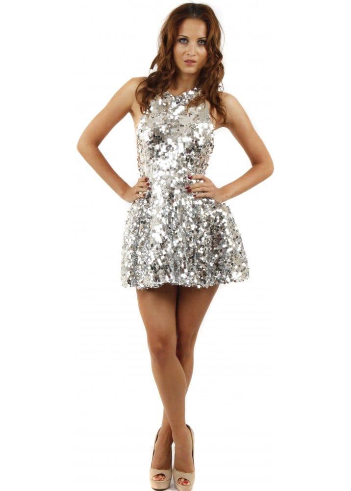 6760c07ce754 Koo-Ture | Koo Ture Lollipop Dress | Silver Sequinned Prom Dress