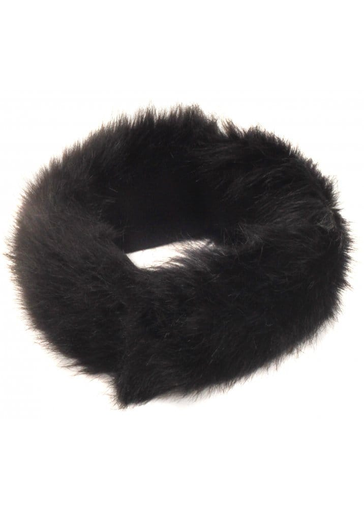 Black Thick Fluffy Faux Fur Headband 348d9dfe6d8