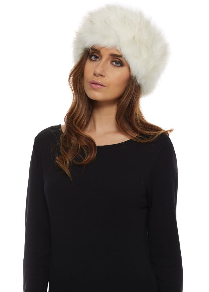 Winter White Thick Fluffy Faux Fur Headband d2ce67e8493
