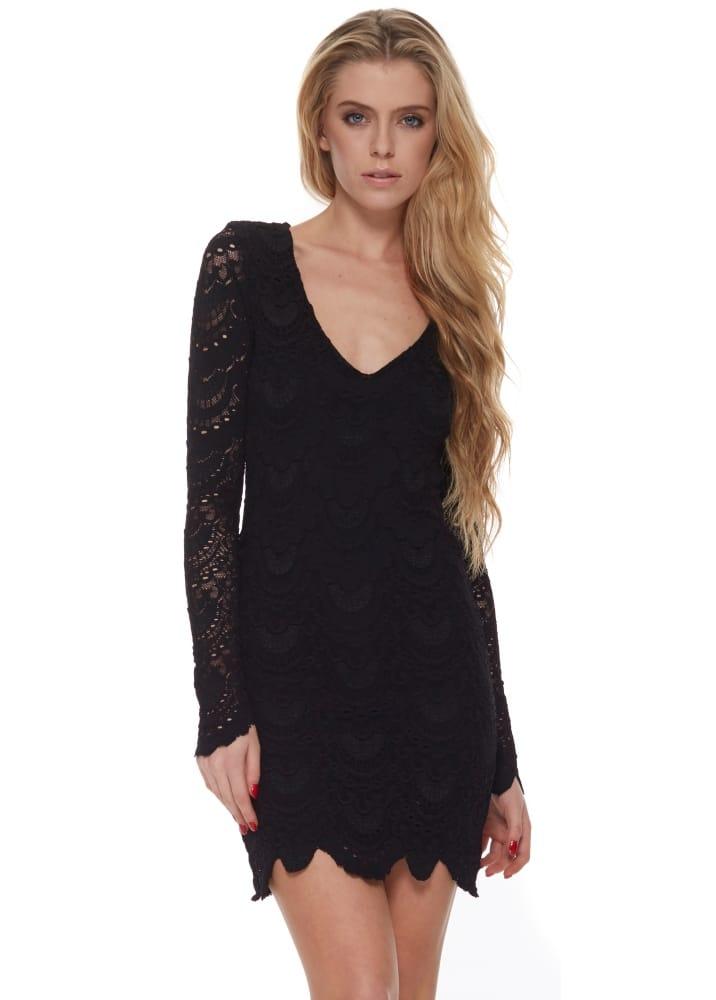 01d44690b5fa Nightcap Spanish Lace Deep V Dress