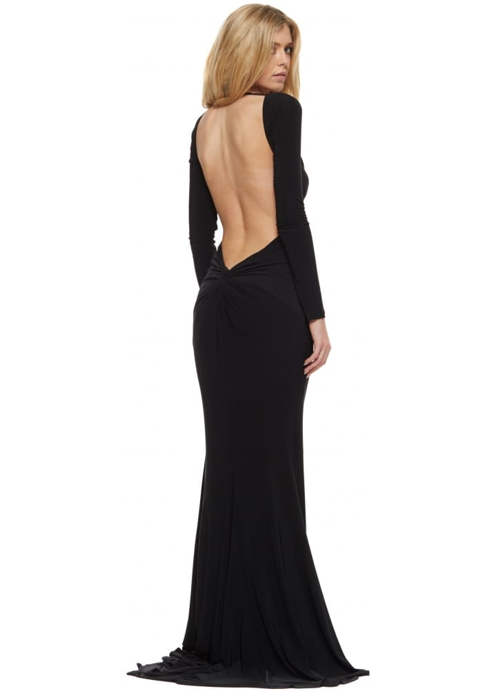 Abyss Black Low Sexy Back Moet Evening Dress