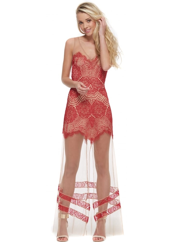 0c4c686a99 For Love   Lemons Antigua Maxi Dress In Red