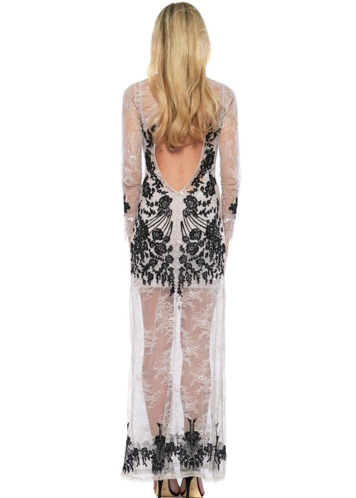 44d10639a6ac3 For Love & Lemons Lacey Dreams Maxi Dress In Dove Grey
