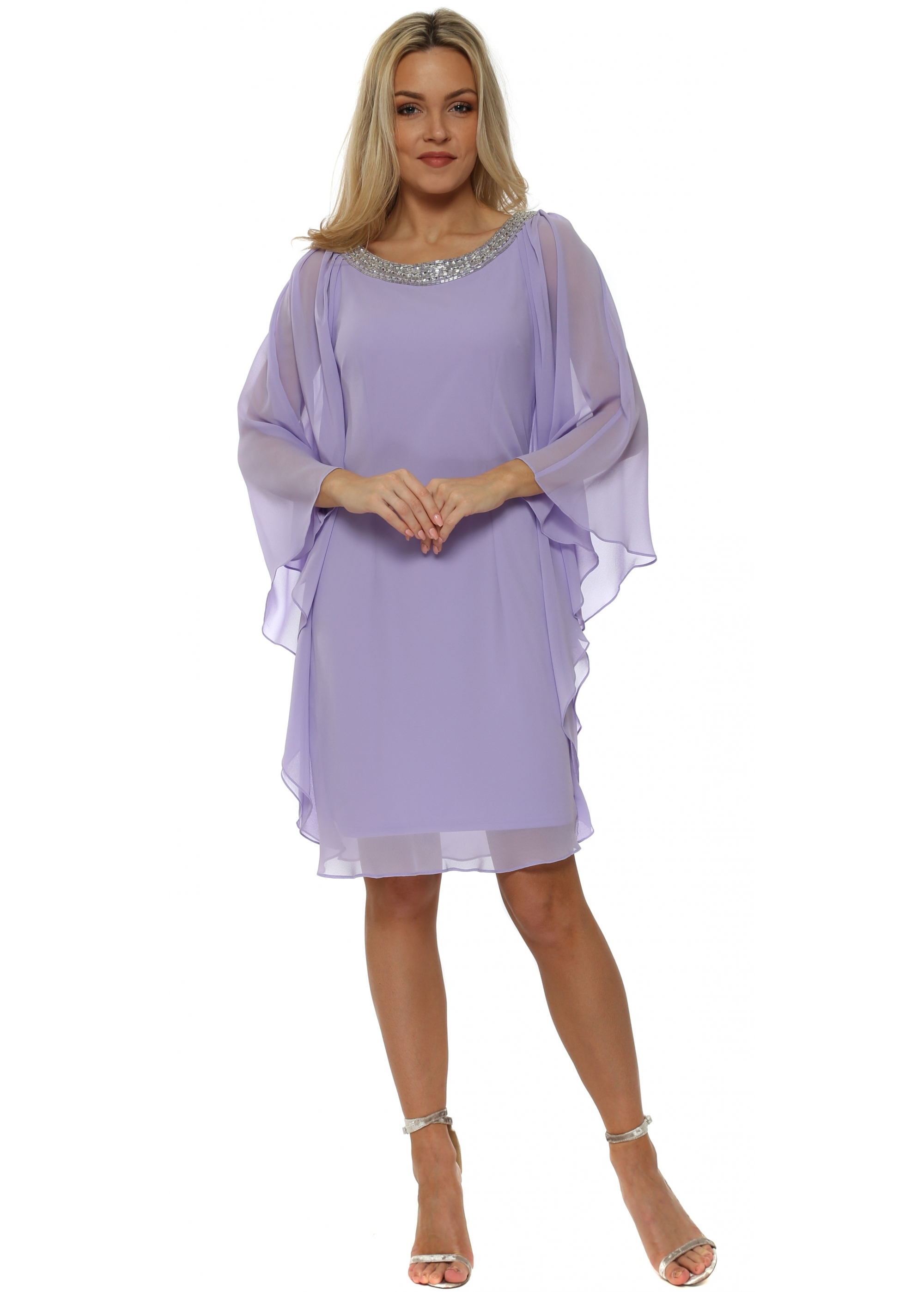 9b0d7d3f1 Mascara Lilac Batwing Dress - MC163005