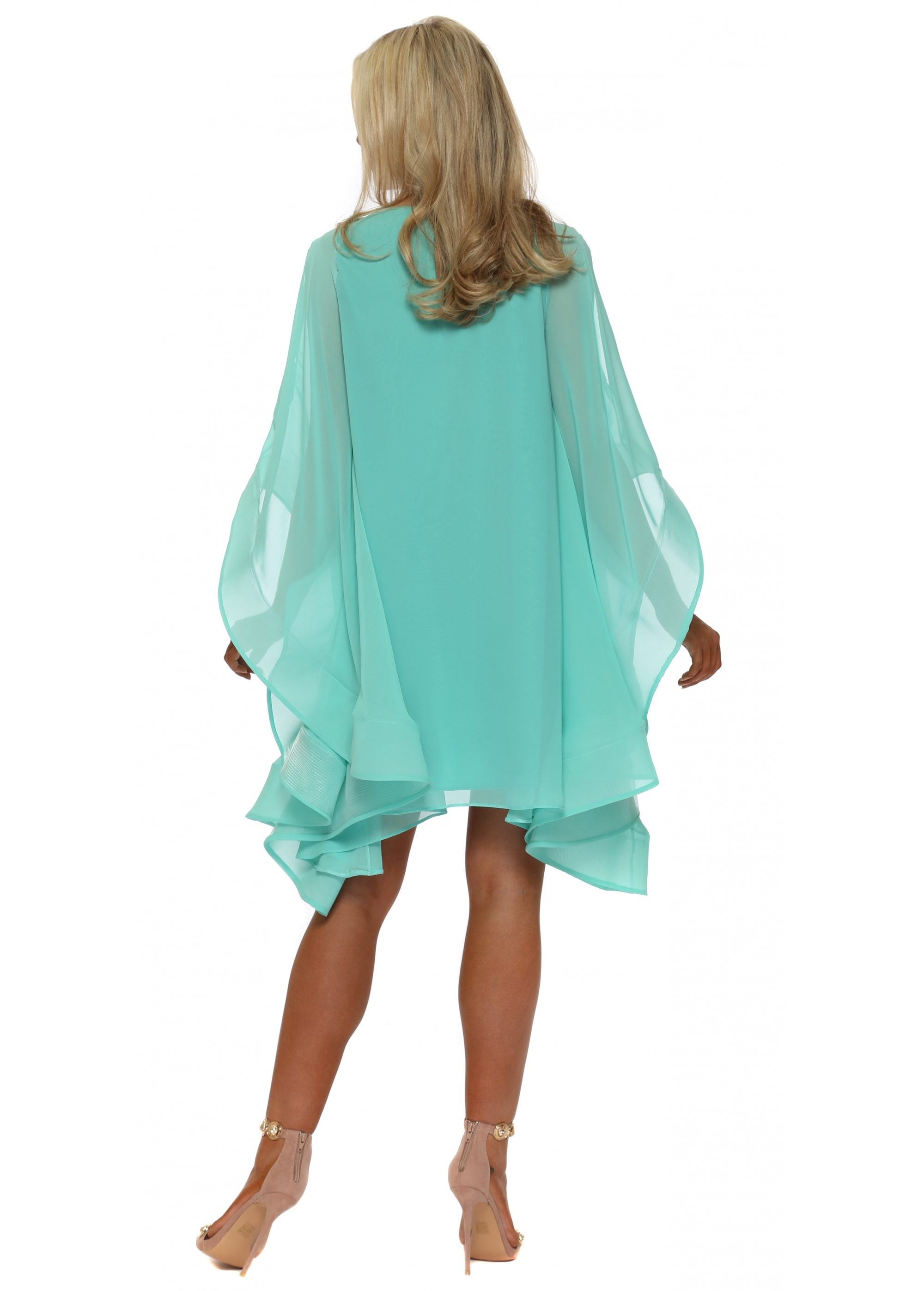 63426dbef66b Red & Royal Dress - Mint Green Cape Sleeves