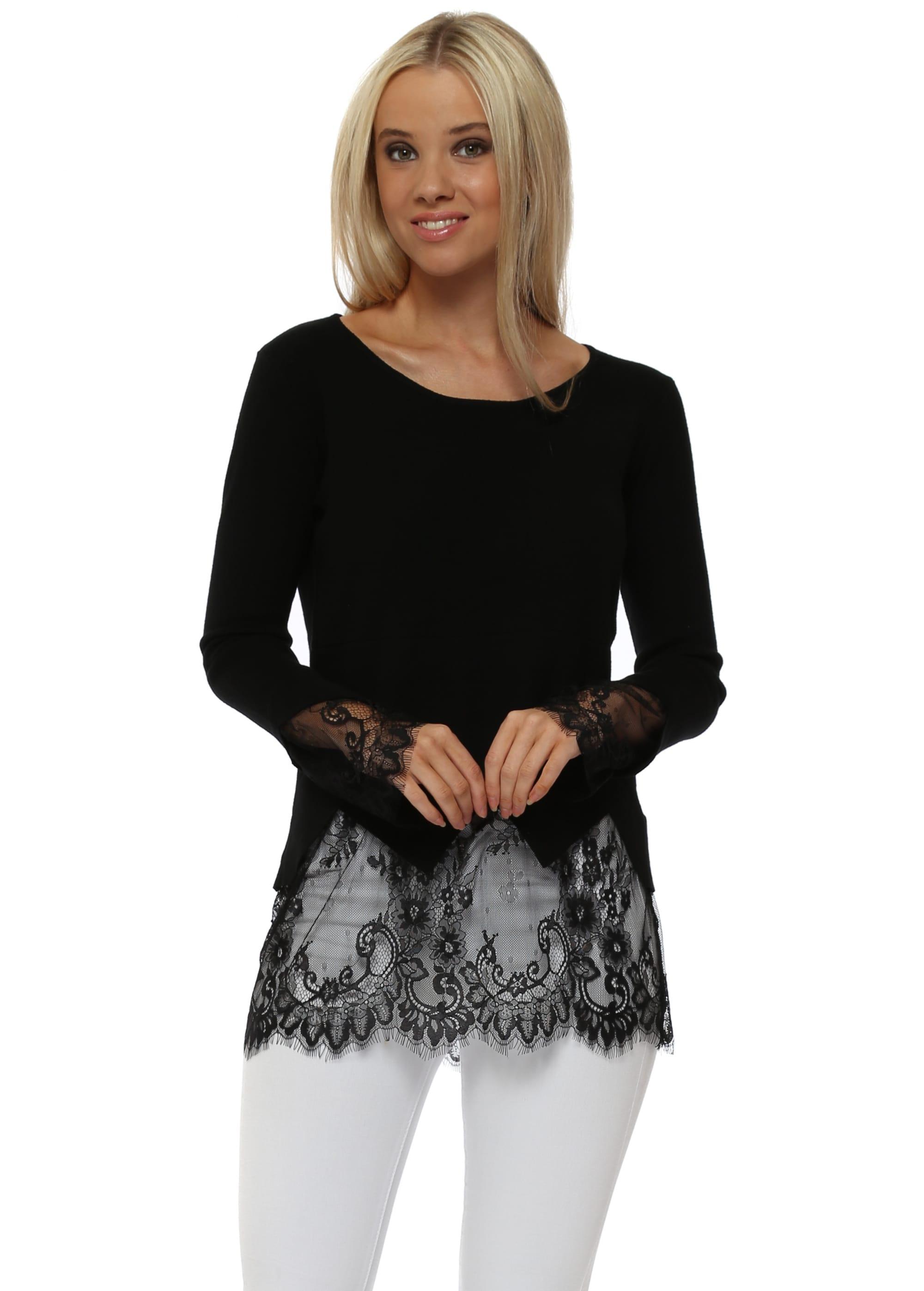 e26f12b8aaf Laetitia Mem Black Lace Jumper