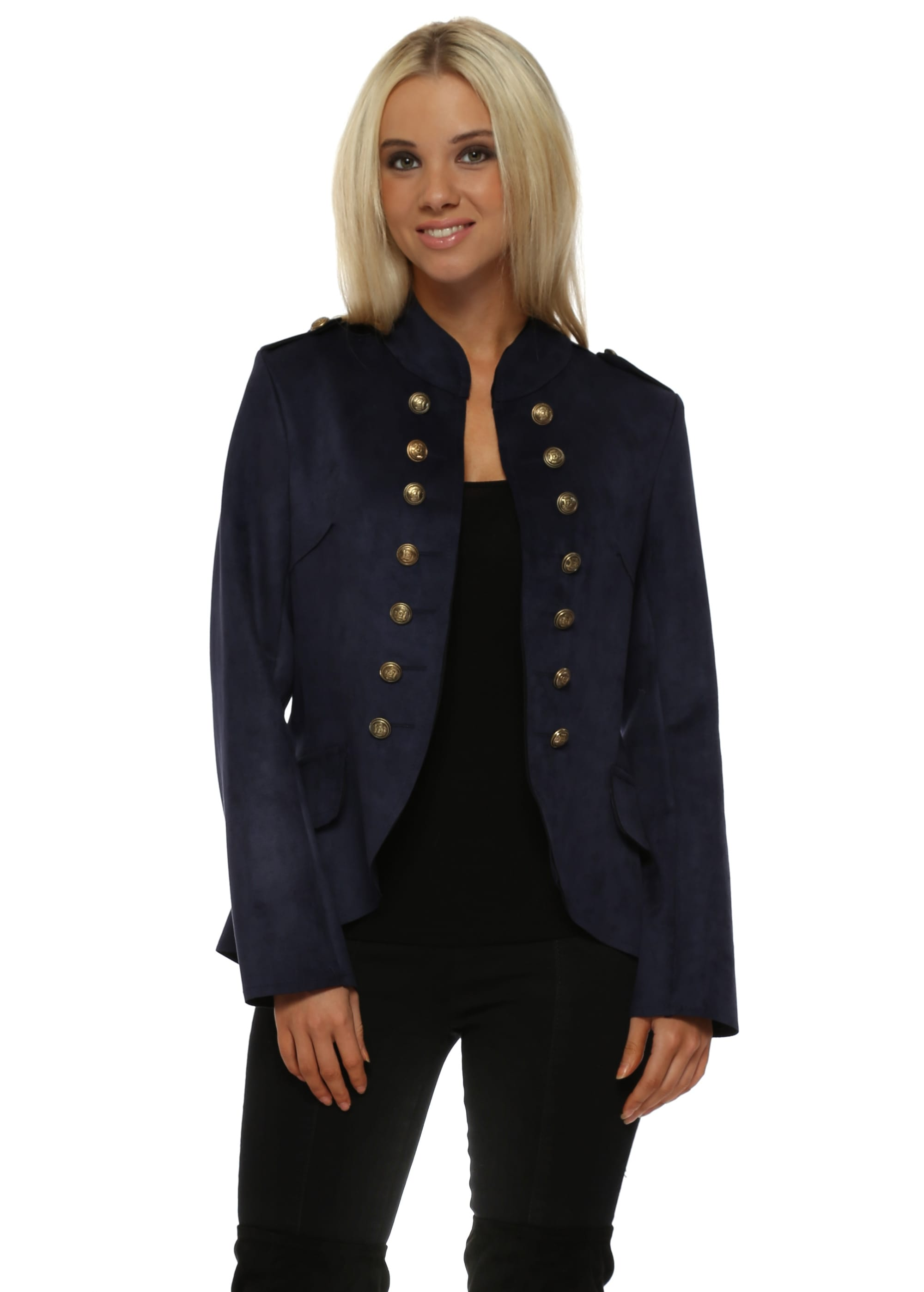 Made In Italy Navy Blue Military Jacket c9722f237a4