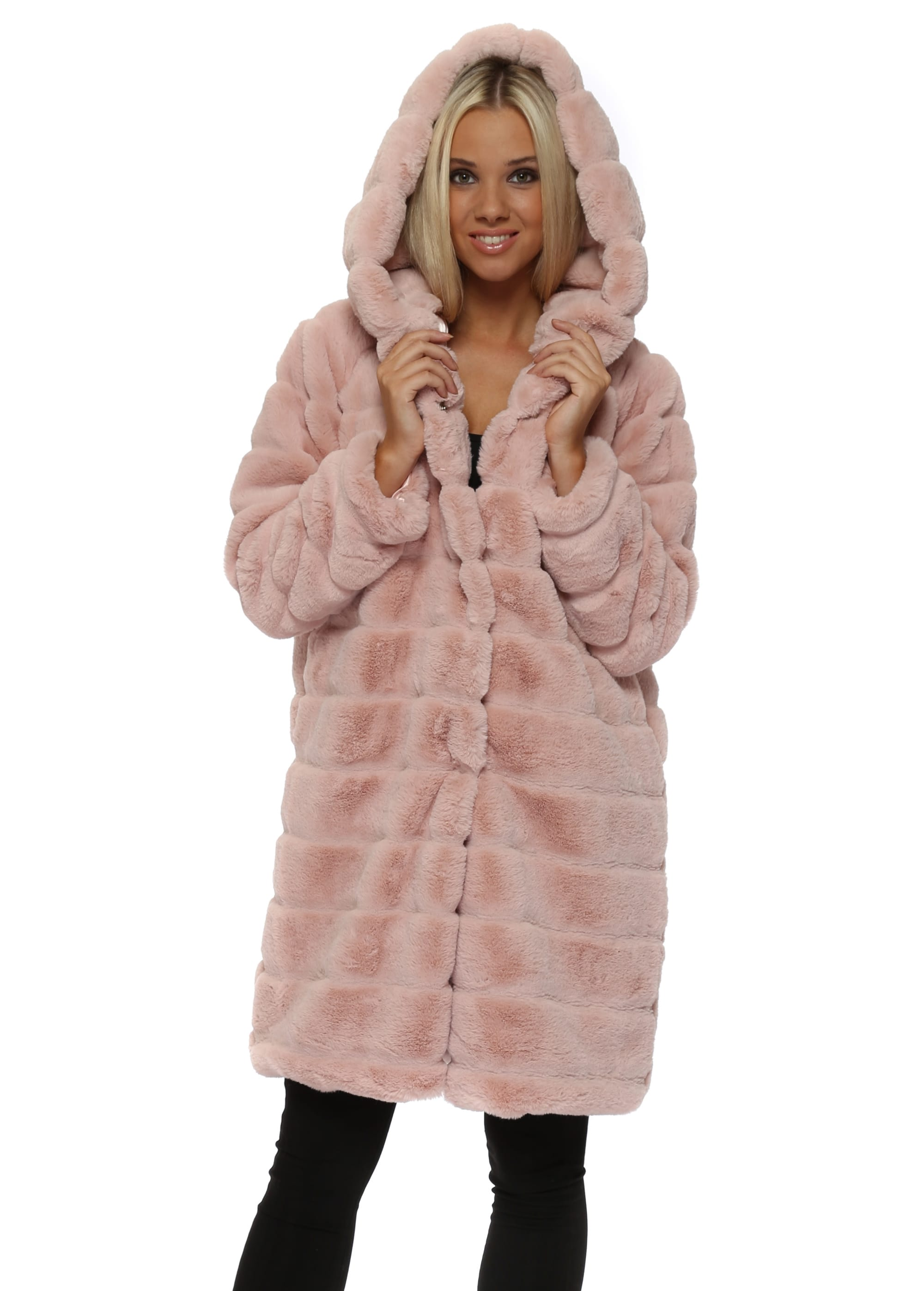 Baby Pink Hooded Teddy Bear Coat May By Shining Star