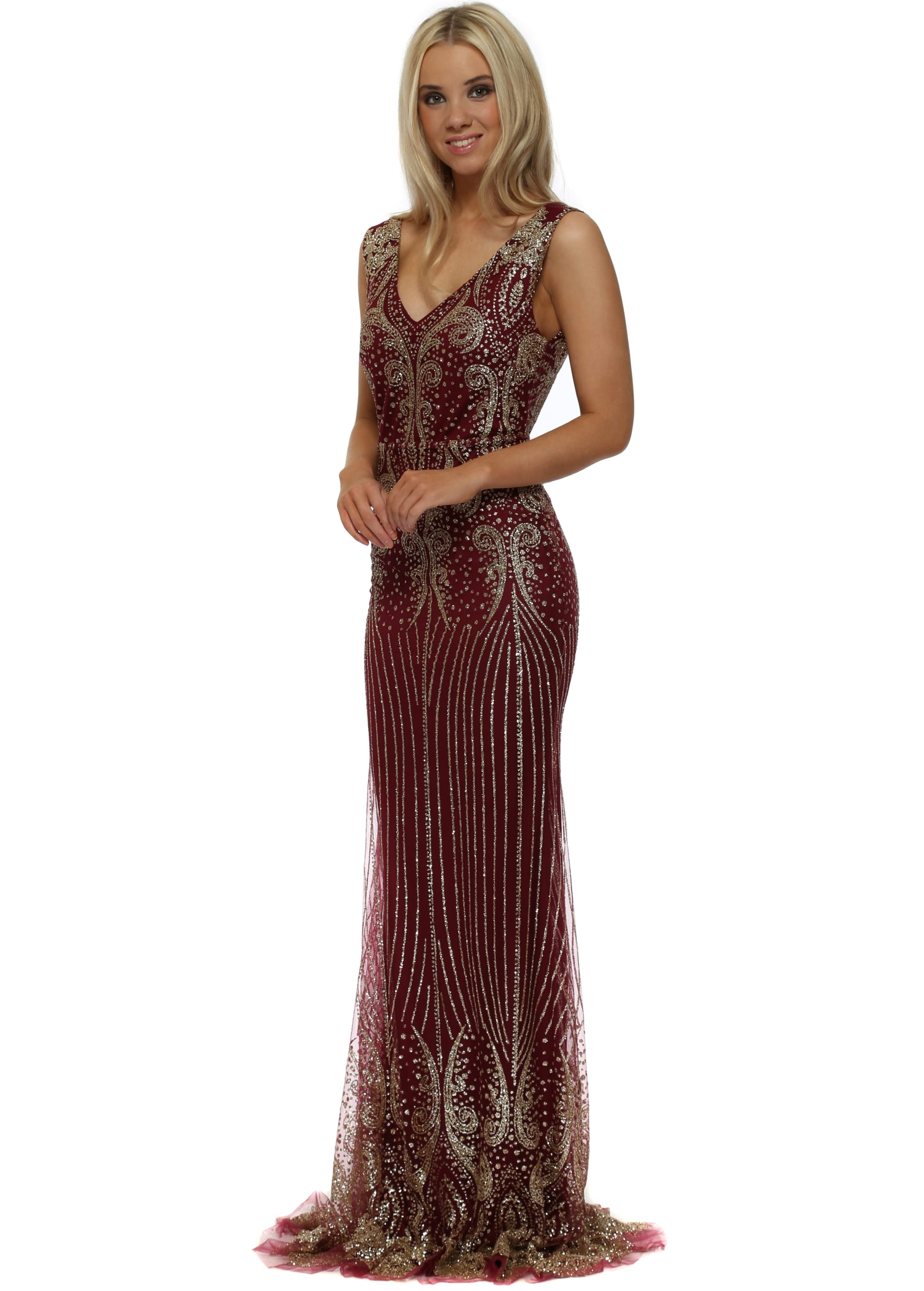 85d3e72699 Jovani Gold Sequin Dress With Fishtail - Gomes Weine AG